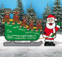 Personalized Family Sleigh Wood Pattern