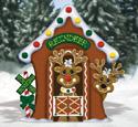 Gingerbread Reindeer Stable Wood Pattern