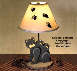 Black Bear Lamp Woodworking Plan