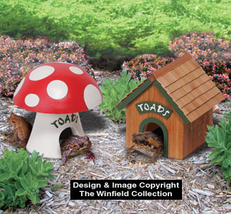 Other yard garden projects toad house wood project plan Make your own toad house