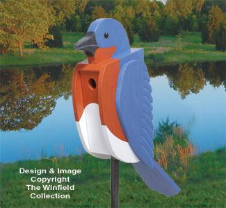 Bluebird-Shaped Birdhouse Wood Plan
