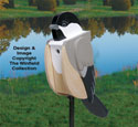 Chickadee-Shaped Birdhouse Wood Plan