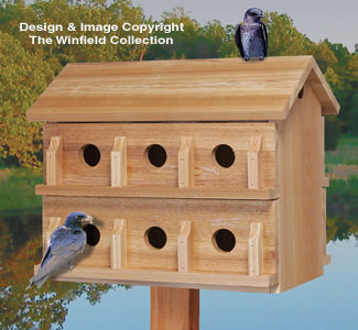 Birdhouse wood patterns ultimate martin house wood for Martin house designs