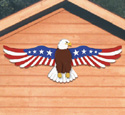 Patriotic Garage Eagle Woodcraft Pattern