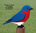 3D Giant Bluebird Woodcraft Pattern