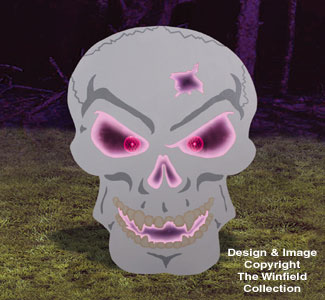 Giant Glowing Skull Wood Project Plan