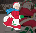 Riding Mrs. Claus Woodcraft Pattern
