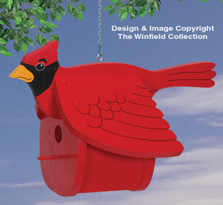 Cardinal Birdhouse Woodworking Pattern
