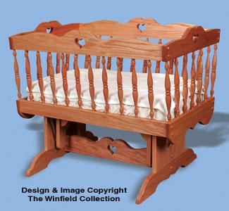 Glider Baby Cradle Woodworking Pattern