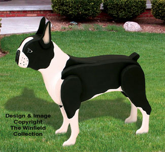 3D Life-Size Boston Terrier Woodcraft Pattern