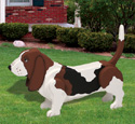 3D Life-Size Basset Hound Woodcraft Pattern