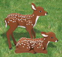 3D Life-Size Fawns Woodcrafting Pattern