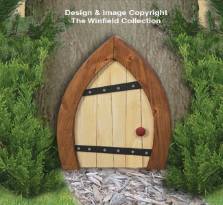 Large Gnome Door Woodcrafting Pattern : gnome door - pezcame.com