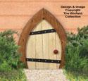 Small Garden Gnome Door Woodcraft Pattern