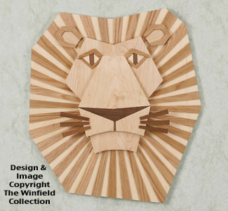 Wall Decor Majestic Lion Wall Hanging Wood Pattern