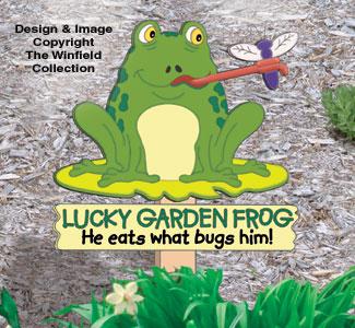 Lucky Garden Frog Woodcrafting Pattern