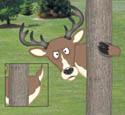 Peeking Deer Woodcraft Project Pattern