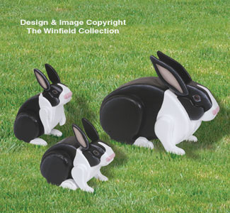3D Animal Project Patterns - 3D Life-Size Rabbits ...