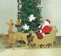 Med/Small Santa, Sleigh & Reindeer Pattern Set