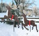 Prancing Reindeer Woodcraft Pattern