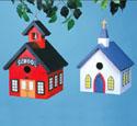 Church & School Birdhouse Wood Project Plan