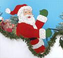 Gigantic Santa Wood Pattern
