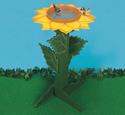 Sunflower Birdfeeder/Bath Woodcraft Plans