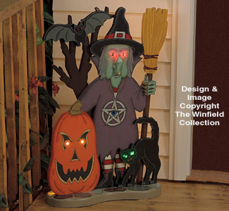 Lighted Welcome Witch Pattern