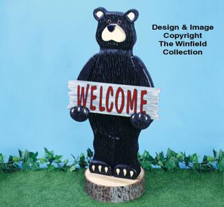 Welcome Bear Woodcraft Pattern