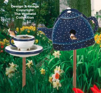 Tea Set Birdhouse/Feeder Wood Plan