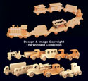 Wooden Vehicles Pattern Set