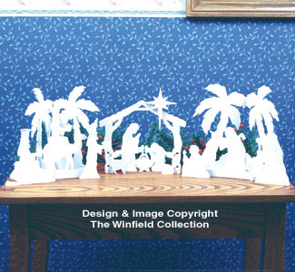 Table Top Nativity Woodcraft Pattern