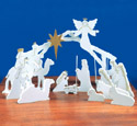 Elegant Indoor Nativity Pattern