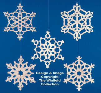 Indoor Christmas - Scroll Saw Snowflakes Large Ornament Project Patterns