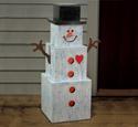 Snowman Stack Woodcraft Pattern
