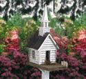 Rustic Church Birdhouse Wood Plan