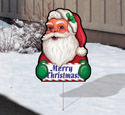 Cheerful Yard Art - Santa