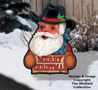 Santa   Elves - Holiday Yard Art - Cowboy 721174bdfbeb