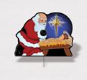 Holiday Yard Art - Santa & Baby Jesus