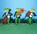 Jazzy Frogs Woodcraft Pattern