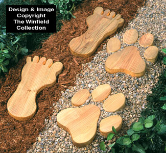 All yard garden projects giant footprint stepping stones pattern giant footprint stepping stones pattern workwithnaturefo