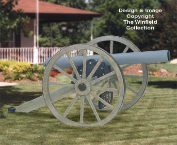 Yard Art Woodcraft Plans Civil War Cannon Woodworking Plan