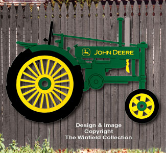 Yard Art Woodcraft Plans Large John Deere Tractor