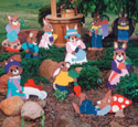 Helpful Garden Bunnies Wood Pattern