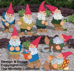 Small Garden Gnomes 1 & 2 Pattern Set