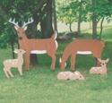 Yard Deer Wood Pattern Set