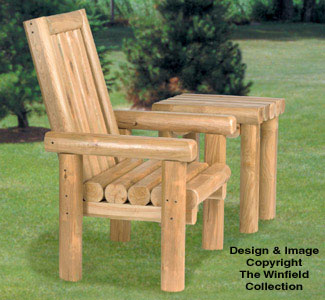 Rustic Chair U0026 Table Wood Project Plans