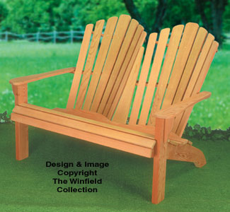 Adirondack Furniture Plans - Adirondack Loveseat Wood Plans