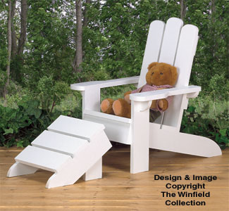 Kid's Adirondack Chair Wood Plans