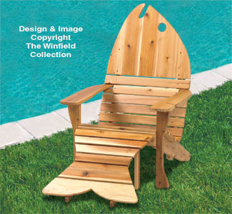 All yard garden projects adirondack fish chair ottoman plans - Patterns for adirondack chairs ...